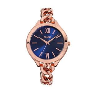 Dámské hodinky Aubade Rose Gold/Royal Blue, 40 mm