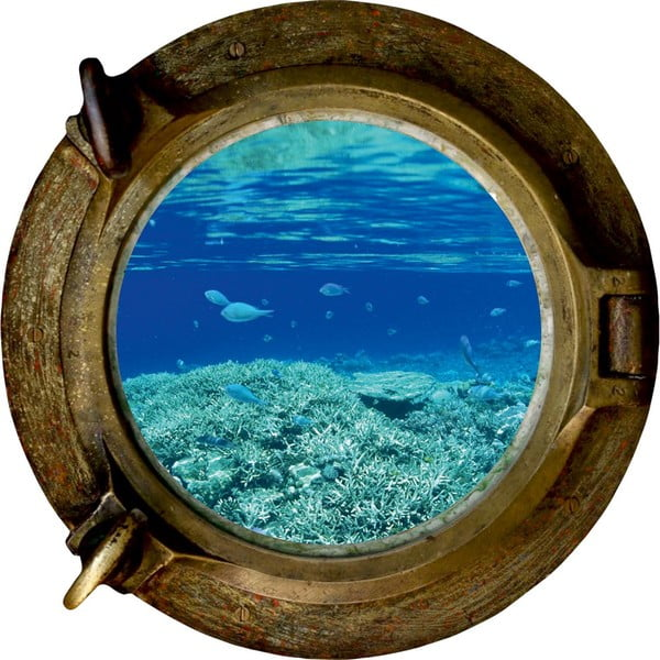 Autocolant de perete Ocean, 33 x 33 cm