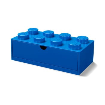 Cutie cu sertar pentru birou LEGO®, 31 x 16 cm, albastru imagine