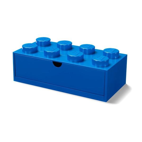 Cutie cu sertar pentru birou LEGO®, 31 x 16 cm, albastru