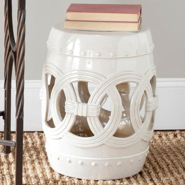 Bílý keramický stolek Safavieh Antique White