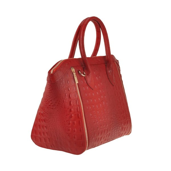 Kožená kabelka Emilio Masi Nunki, červená