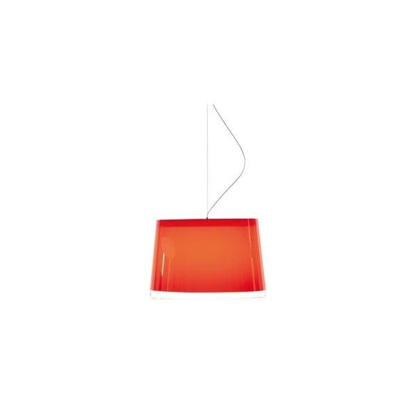 Závěsné světlo L001S/BB, transparentní červená