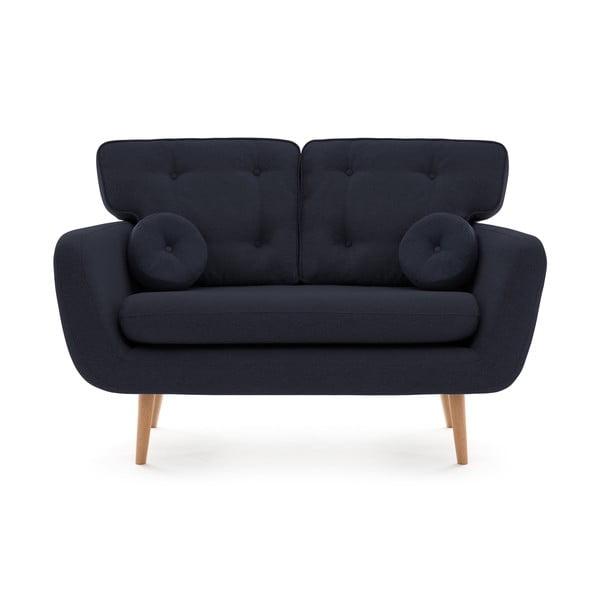 Canapea cu 2 locuri Vivonia Malva, bleumarin