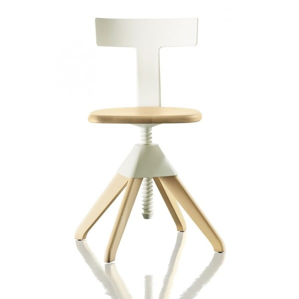 Biało-brązowe krzesło biurowe Magis Tuffy