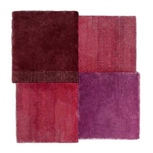 Červený koberec EMKO Over Square, 250 × 260 cm
