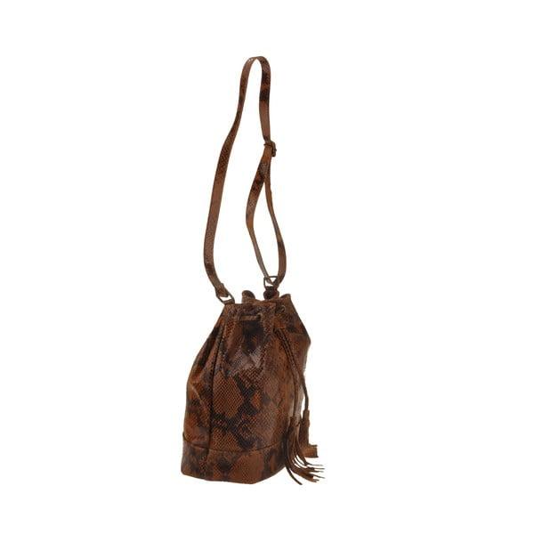 Kožená kabelka Zosca, hnědá