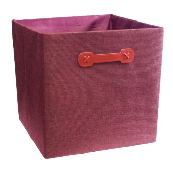 Úložný box Ordinett Cube Red, 32 x 32 cm