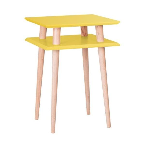 Square sárga dohányzóasztal, 43 x 43 cm - Ragaba