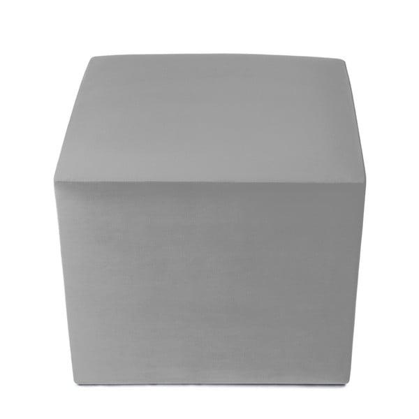 Puf ve stříbrné barvě Vivonita Kim