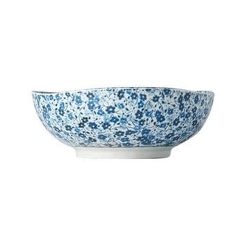 Bol din ceramică MIJ Daisy, ø17cm, alb - albastru