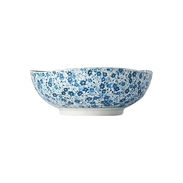 Niebiesko-biała miska ceramiczna MIJ Daisy, ø 17 cm
