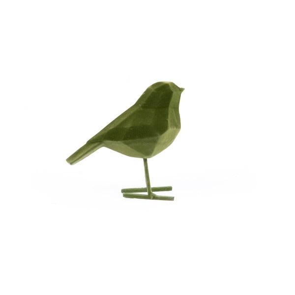 Tmavozelená dekoratívna soška PT LIVING Bird, výška 17 cm