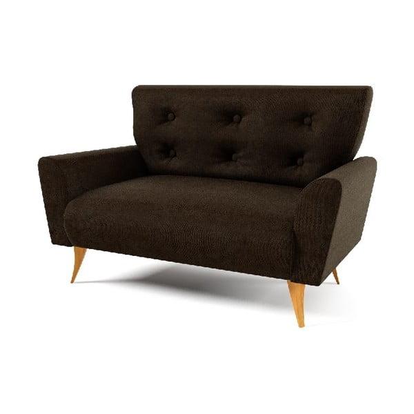 Sofa pro dva Lacoma, tmavě hnědá