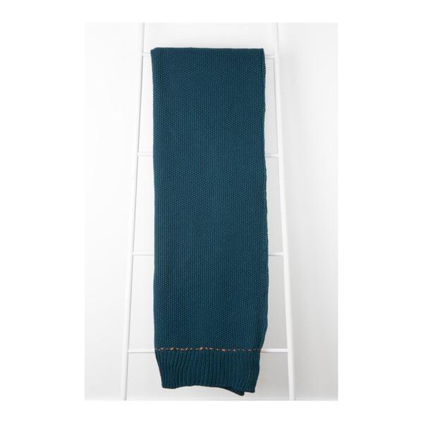 Tmavě modrý pléd Zuiver Aster, 170 x 130 cm