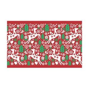 Kuchyňský běhoun Crido Consulting Christmasy Rouge, délka 100 cm