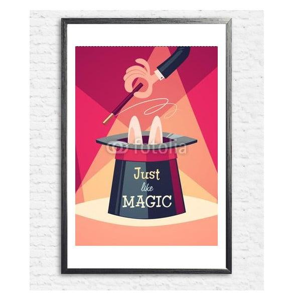 Zarámovaný plakát Just a Magic Trick, černý rám
