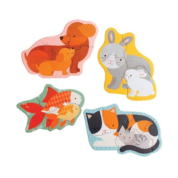 Set 4 puzzle Petit collage Pets