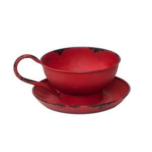 Červený svícen na čajovou svíčku Novita Cup