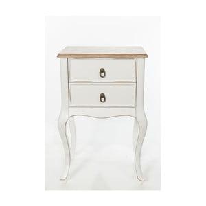 Odkládací stolek Mira Vintage White, 46x33x70 cm