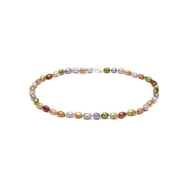 Náhrdelník z říčních perel GemSeller Scropolia, zelenkavé perly