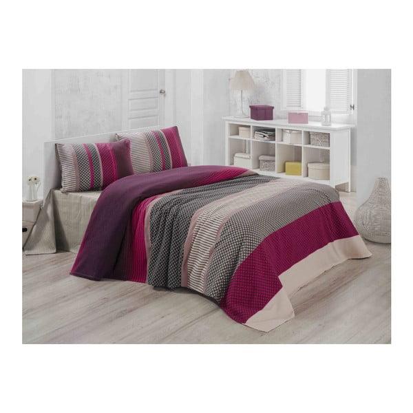Lekka pikowana bawełniana narzuta na łóżko Carro Mundo, 140x200 cm