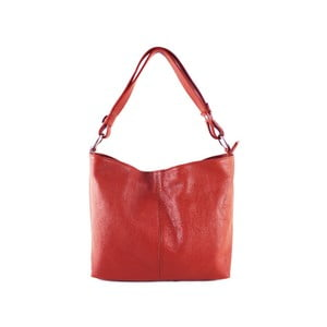 Červená kabelka z pravé kůže GIANRO' Connect