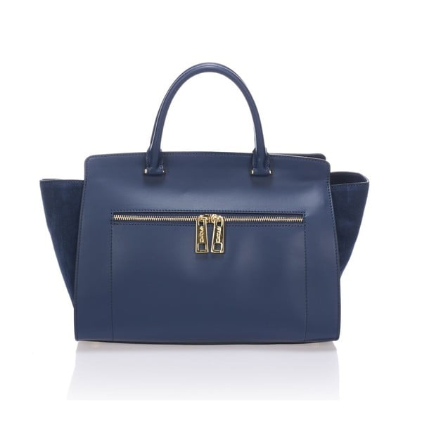 Kožená kabelka Krole Kristina, modrá