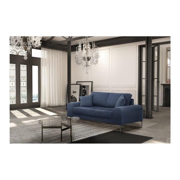 Set canapea albastru închis, 2 scaune crem, o saltea 140 x 200 cm Home Essentials