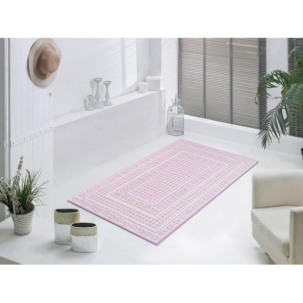 Starorůžový odolný koberec Vitaus Olivia, 80x150cm
