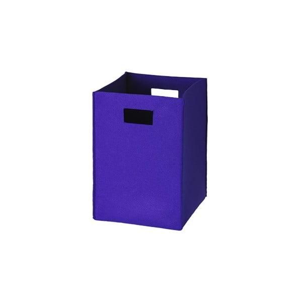 Plstěná krabice 36x25 cm, středně modrá