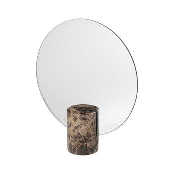 Oglindă cu suport din marmură Blomus Marble, maro