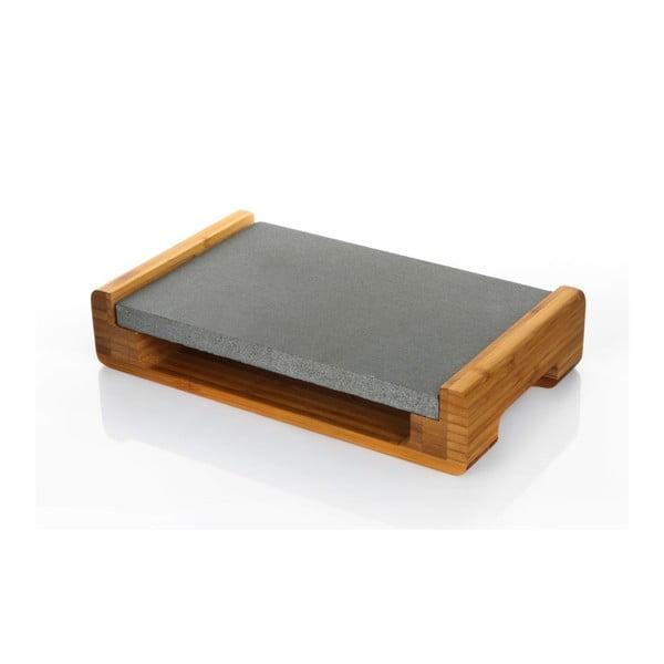 Servírovací podnos s granitovou deskou, 30 x 20 cm