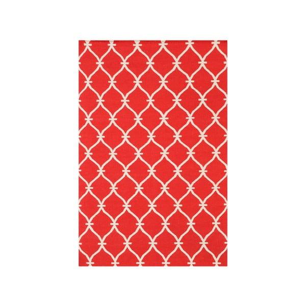 Vlněný koberec Kilim Belinda Red, 155x240 cm