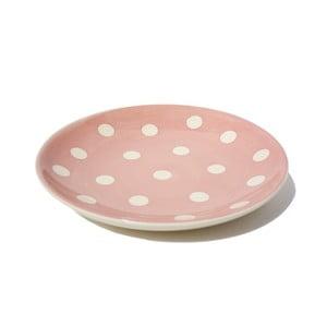 Puntíkatý dezertní talíř Pink Assiette