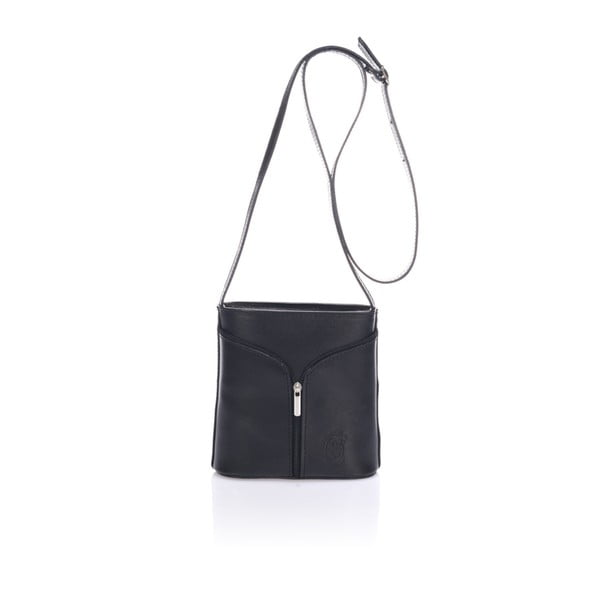 Černá kožená kabelka Giulia Massari Bergamo