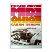 Plakát Porsche Mid Ohio Can-am Cup 1973, 70x50 cm