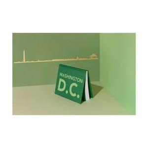 Pozlacená nástěnná dekorace se siluetou města The Line Washington DC