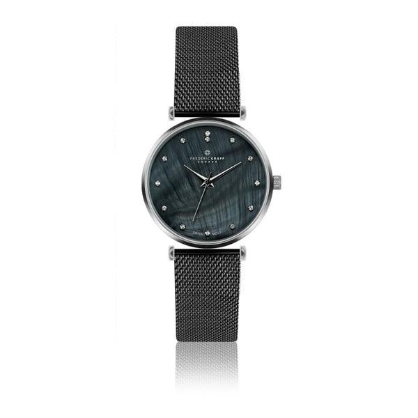 Dámske hodinky s remienkom v čiernej farbe z antikoro ocele Frederic Graff Lizzo