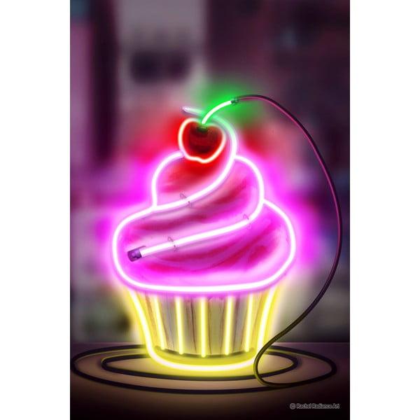 Neon Cupcake poszter, 30 x 40 cm - Blue-Shaker