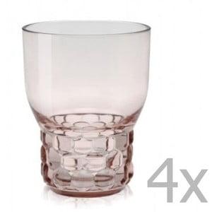 Sada 4 růžových sklenic Kartell Jellies, 300ml