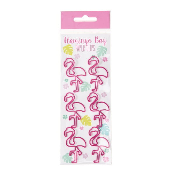 Set 6 agrafe de birou Rex London Flamingo