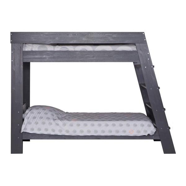 Dvoupatrová postel Julien, ocelově šedá