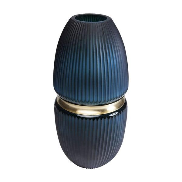 Tmavě modrá váza Kare Design Cesar, výška 45 cm