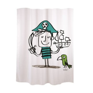 Sprchový závěs Pirated Kid White