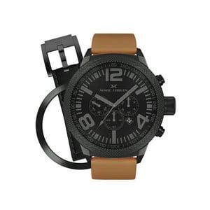 Pánské hodinky Marc Coblen s páskem a kroužkem navíc P46