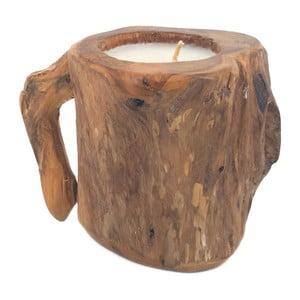 Dřevěný svícen Moycor Erosi Mug, 15 cm