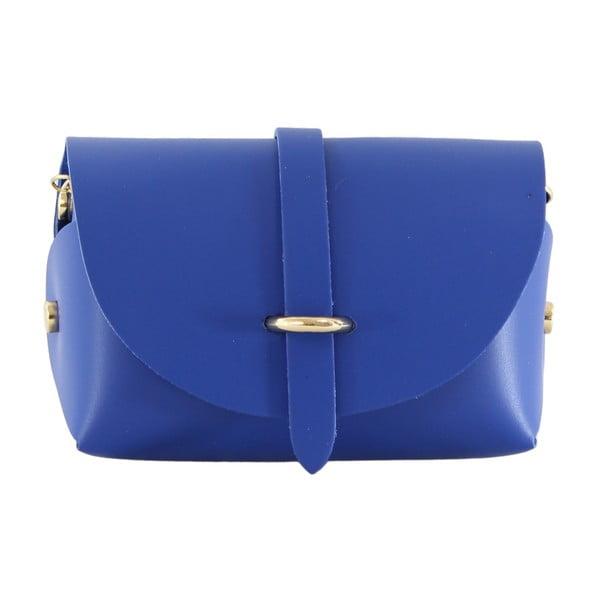 Modrá kožená kabelka Loira