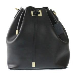 Černá kožená taška Chicca Borse Erica
