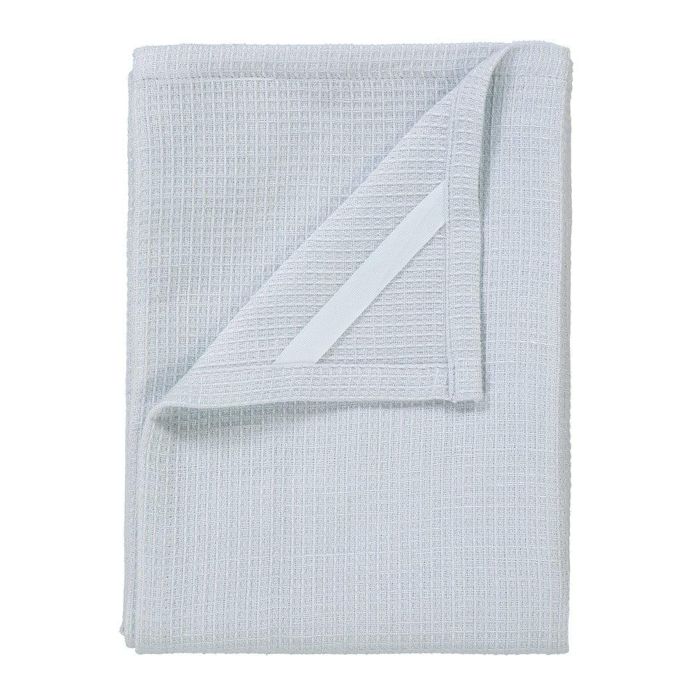 Sada 2 bílých utěrek na nádobí ze směsi bavlny a lnu Blomus, 50 x 70 cm